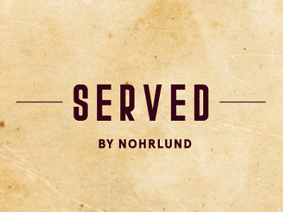 SERVED BY NOHRLUND class=