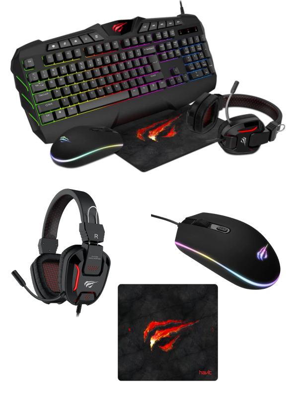 4-i-1 Gamingset Bundle Gamenote Havit