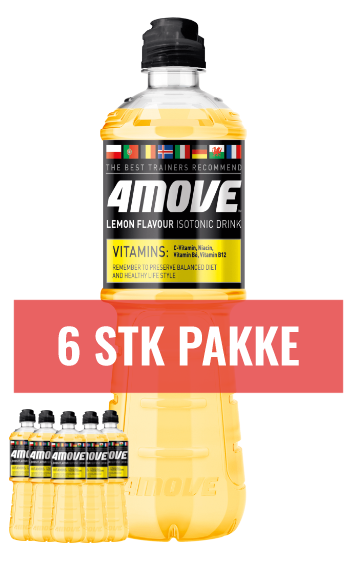 4Move Lemon Isotonisk vitamindrik 6stk