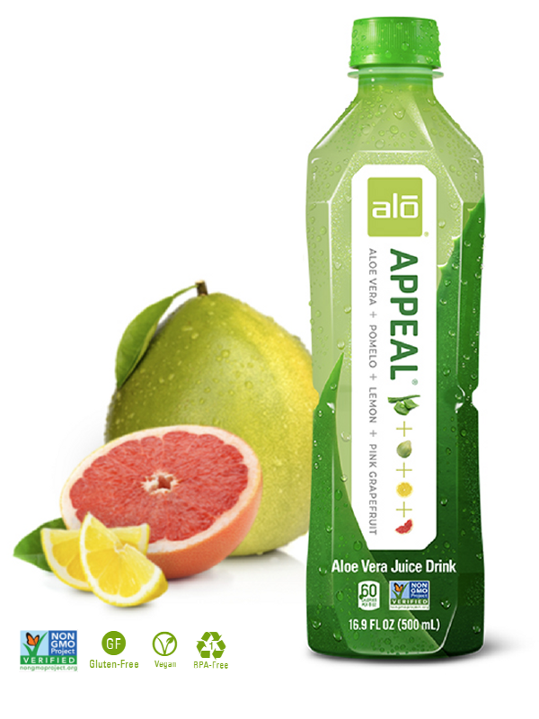 ALO APPEAL Aloe Vera Juice Pomelo Pink Grape Lemon