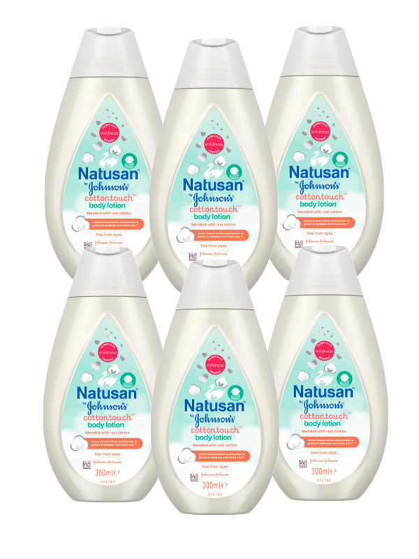Baby Body lotion Creme Nyfødt Natusan CottonTouch 6 pack