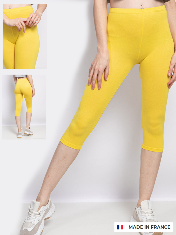 Capri leggings Gul