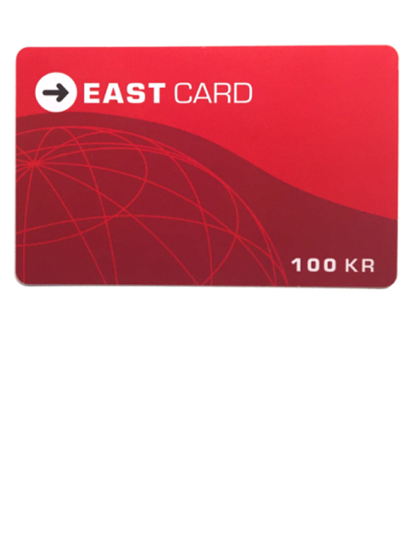 EAST CARD 100KR