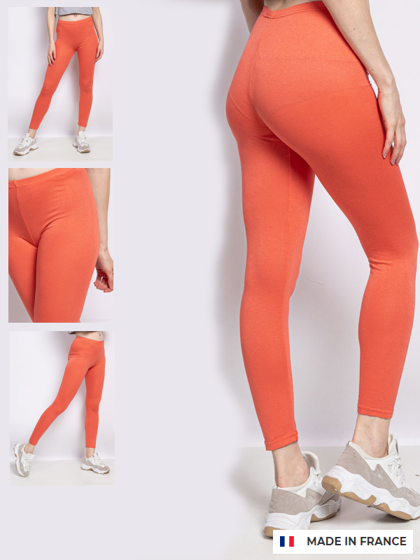 Leggings blød viscose Koral