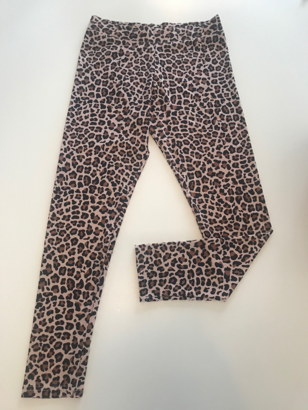 Leggings Large Leopard Brun
