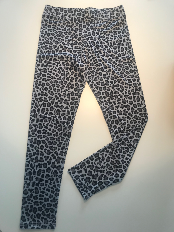 Leggings Large Leopard Grå
