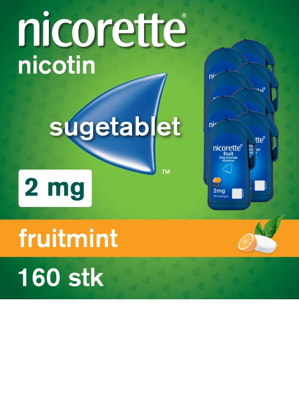 NICORETTE® Cooldrops Fruit Sugetablet 2mg 160stk