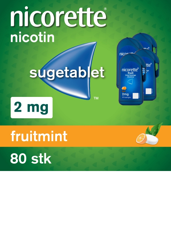 NICORETTE® Cooldrops Fruit Sugetablet 2mg 20stk