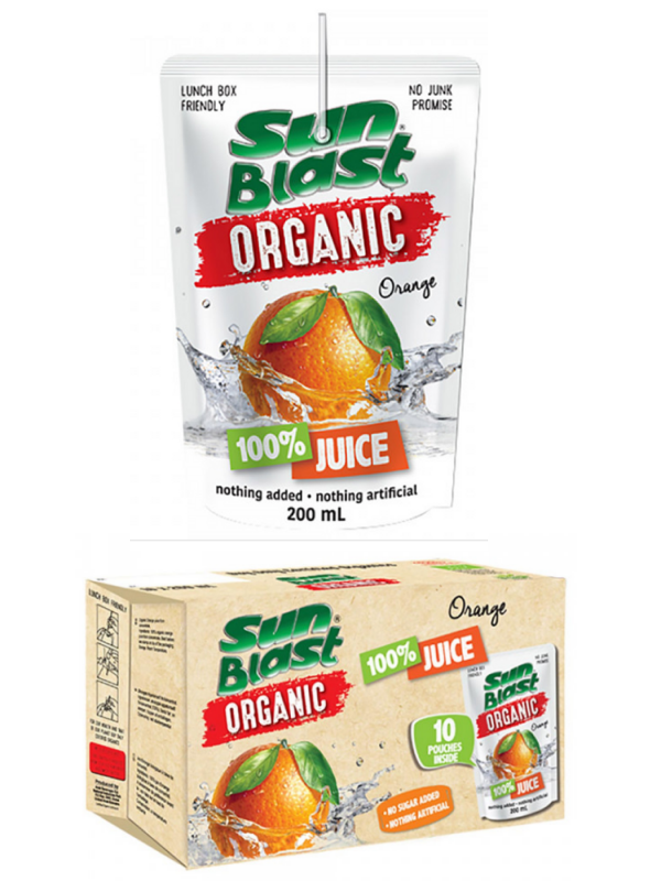 SunBlast ØKO Juice Orange/Appelsin (10x200ml)